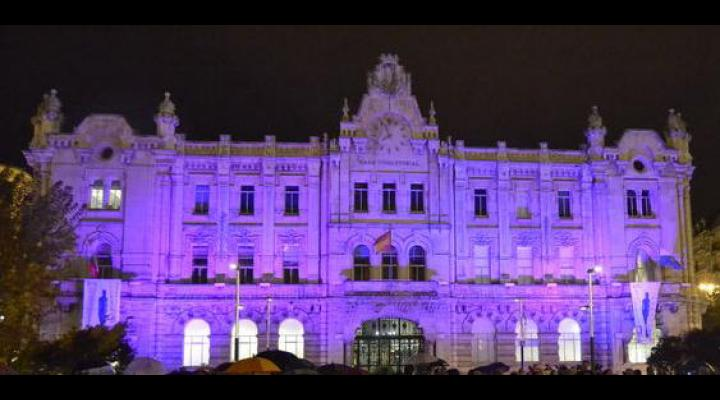 Santander city hall and casino Sardinero to be lit in purple