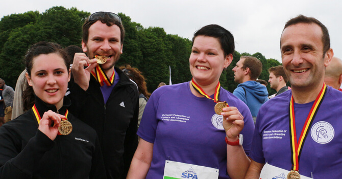 World IBD Day celebrations at the Brussels 20 km marathon