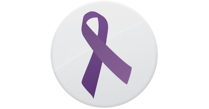 The purple ribbon as a symbol of awareness and support for those living with IBD